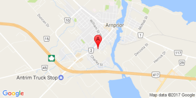 Location map for 4 Robert Street, Arnprior