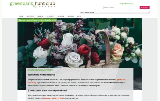 Greenbank Hunt Club Centre website