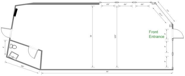 Floorplan for unit 1B