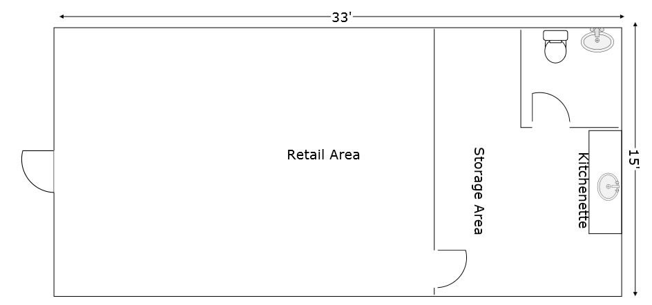 Floorplan for unit 4b